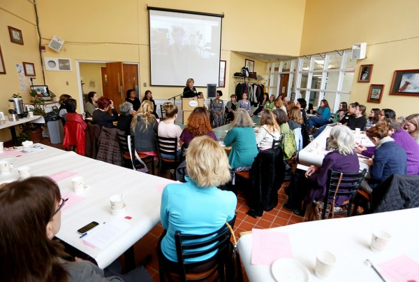 The panel of eight women entrepreneurs shared their experience, advice, and wisdom with a mostly female audience of 55 that crowded the culinary arts dining room.